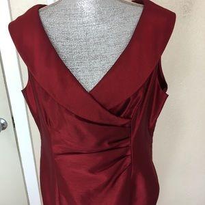 Jones Wear cranberry sleeveless Dress